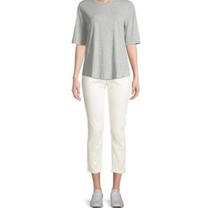 Eileen Fisher 8 Ivory Organic Jeans  8BF27